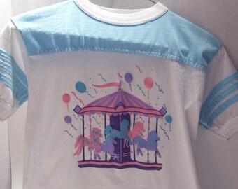 Girl Scout Carousel Cookie Award Shirt 1989 Size 14-16 Girl's