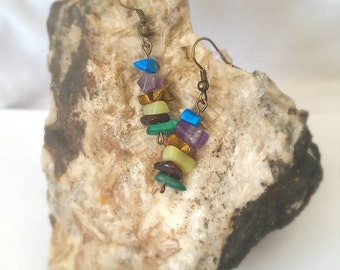 Semi Precious Boho Earrings