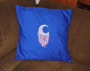 RTS Embroidered Moon Dreamcatcher Pillow cover with insert Cushion american indian navaho decorative decor Ready To Ship Dream Catcher