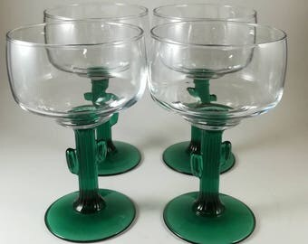 Set of four vintage Collectible Libbey Margarita glasses