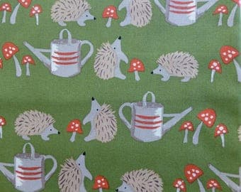 1/2 Yard Organic cotton, Monaluna, Cottage Garden, Hedgehogs
