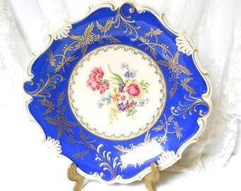 antique blue serving dish blue dish vintage porcelain dish vintage footed serving dish collectible dish