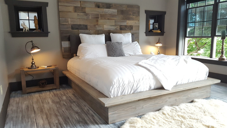 Rustic Modern Industrial Reclaimed Wood Wall Mount