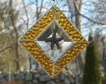 Stained Glass Starfish Sun Catcher