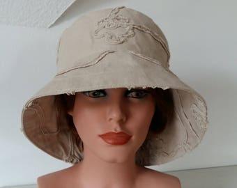 Summer Hat- Garden Hat - Beach Hat Sun Hat Size 57 cm or 22.4 inch