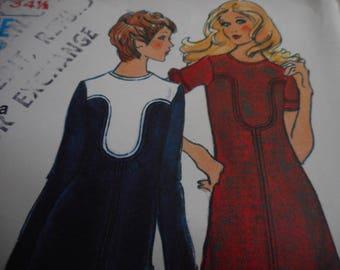 Vintage 1960's Vogue 8130 Puzzle Piece Dress Sewing Pattern, Size 10 Bust 32 1/2