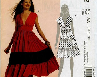 McCall's Easy M5842 Dress Size AA (6-8-10-12)
