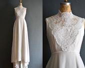 Marjorie / 70s wedding dress / 1970s wedding dress