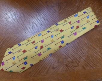 ALYNN Neckwear 18 Hole Course golf silk necktie