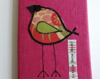 Raspberry Sorbet Pink Fabric Covered Notebook -CB17