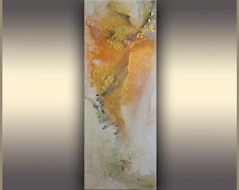 Gold Metallic Painting, Abstract Art, Golden Angel, Art Painting, Original Painting, Acrylic Painting, Abstract Painting, Gold Painting