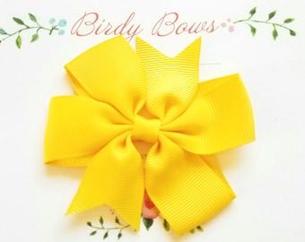 Yellow Bow Clip, Baby Headbands, Infant Headbands, Baby Girl Headbands, Infant Bow, Baby Bow, Girl Bow,Girl Headbands