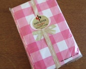 Vintage Pillowcase Pair - Pink Plaid by Dan River - Standard Size 100% Cotton Combed Percale NIP