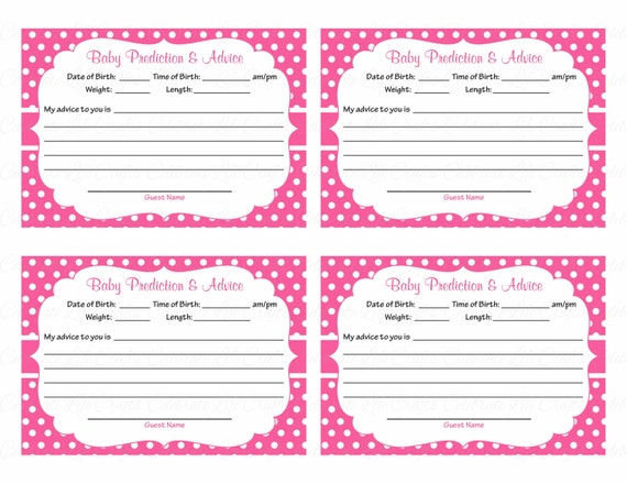 Critical image with regard to free printable baby shower advice cards