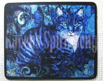 Blue cat Mousepad