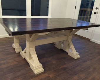 Farmhouse Triple Trestle Table Diy Kit
