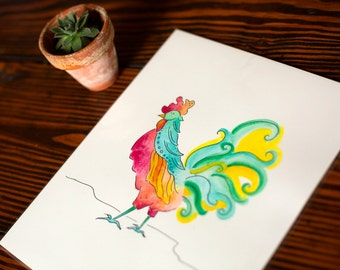 Whimsical Rooster (Original)