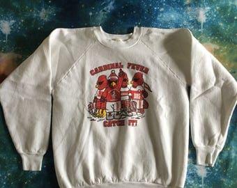 Vintage Bloomingdale High School Cardinal Fever Catch It Over Sized Sweatshirt