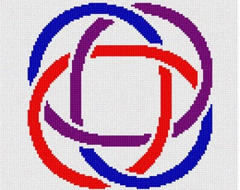 Needlepoint Kit or Canvas: Celtic Knot 2