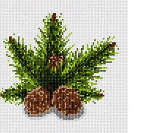 Needlepoint Kit or Canvas: Pinecones