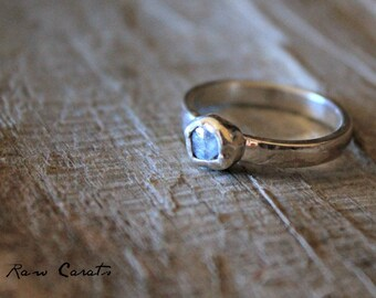 Sapphire Ring - Rustic Sapphire Ring