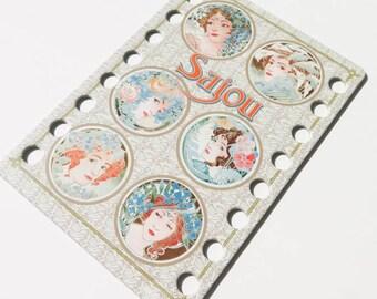 Thread Organizer | Embroidery Floss Organizer from Maison Sajou - Art Nouveau Ladies