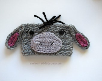 Crochet Eeyore Coffee Cup Cozy