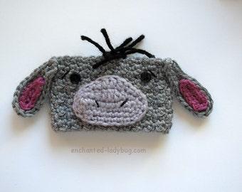 Crochet Eeyore Coffee Cup Cozy