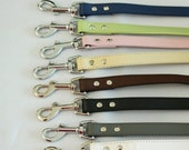 Dog Leash, Leather leash,  Dog Lovers, Dog Leash, Pet wedding accessory, Custom leash, Brown, Ivory, Pink, Black, White, Navy, Copper, Gray
