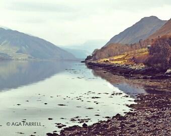 Mountain Art Print, Landscape Photography, Scotland Art, Travel Photography, Landscape Print, Scottish Highlands, Loch Broom, Mountain Print