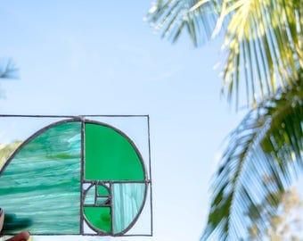 Fibonacci stained glass