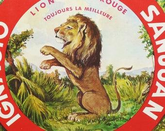 1940s LION RAMPANT, Vintage Advertisement. Art Deco. Antique Poster. Antique Advertisement. Over 70 years old print