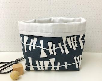 Fabric storage basket - monochrome storage - storage bin - modern nursery - nursery storage - scandi style - new mum gift - baby shower gift