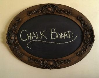 Vintage Oval Chalkboard
