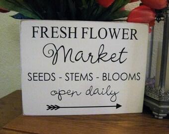 flower garden decor,fresh flower sign,flower decor,flower sign,garden decor,patio decor,porch decor,patio wall decor,porch wall decor,garden