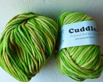 Sale Spring Greens 7010 Cuddles Bulky by Crystal Palace Yarns