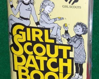Vintage Girl Scout Patch Collector Trading Book