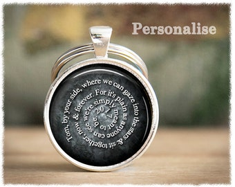Long Distance Relationship • Anniversary Gifts For Men • Mens Personalized Keychain • Mens Gifts • Deployment Gift