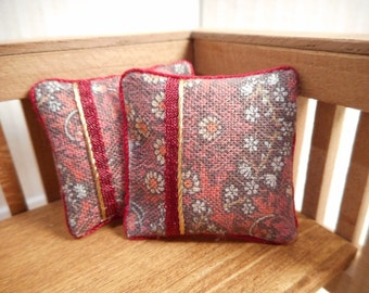 Dollhouse pillows, set of two