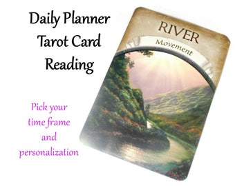Daily Planner Tarot Card Reading, Tarot Reading for the Day, Same Day Psychic Reading Intuitive Reading, Oracle Reading Future Tarot Reading