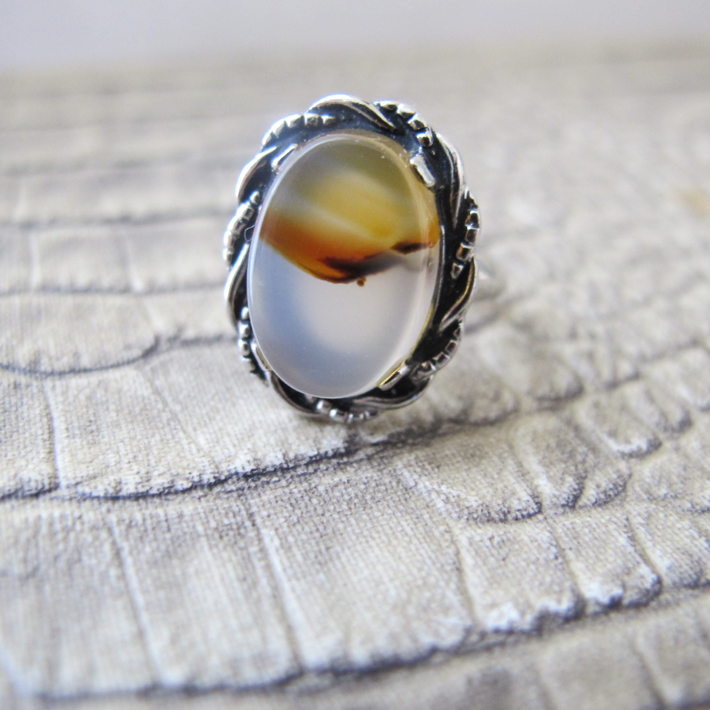 gallery lyst plated stacking vinader monica nugget agate rings siren rose grey jewelry gold ring