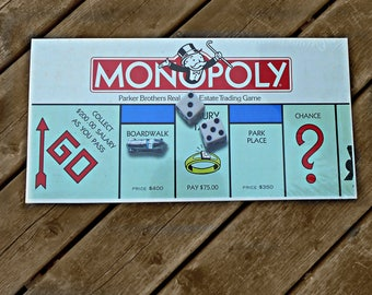 Vintage Parker Bros 1985 Monopoly Real Estate Trading Board Game # No. 0009 Factory Sealed