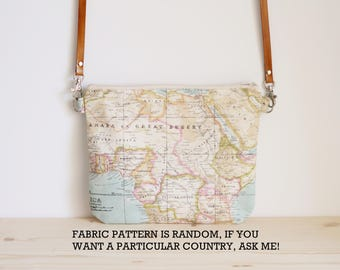Map bag, world map crossbody bag, map, women bag, map purse, map gifts, worldmap bag- Mapamundi