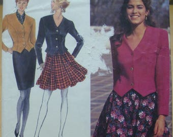 FREE SHIPPING! Simplicity 8032 skirt and jacket womens sewing pattern sizes 4 6 8 UNCUT
