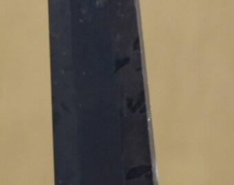 Black tourmaline  obelisk healing wand 8.2 cms 0089