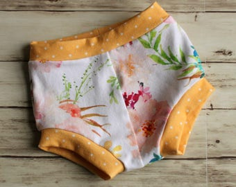 Watercolor floral shorts, Bloomers, Bummies, Girl Shorts, Floral Shorties, Bubble Shorts, Toddler Shorts, Kid Shorts, Shorties, Baby Shorts