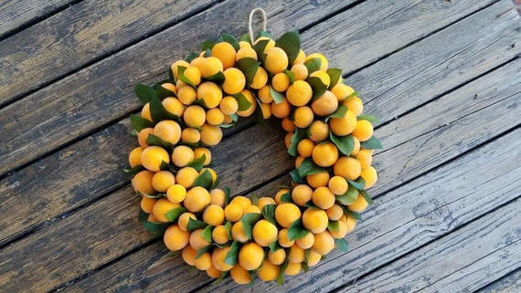 Wreath, Citrus Wreath, Sugared Orange Wreath, Christmas Wreath