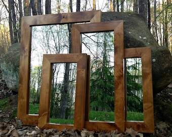 Ready to ship!!! Knotty Alder Mirror, Wood Mirror, Large Wall Mirror, Framed Mirror, Vanity mirror, Small Mirror