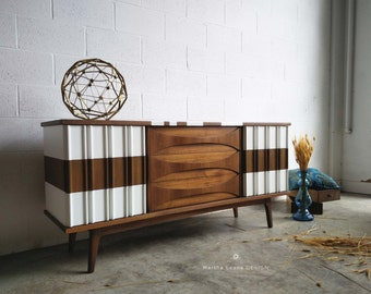 Samples of Mid Century Dressers with Custom Design: Custom orders accepted