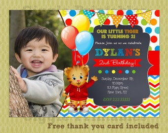 Daniel Tiger Invitation, Daniel Tiger Birthday Invitations, Daniel Party Invite Printables, DIY Printables